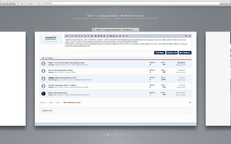 Safari 7 1 8 pkg download? | MacRumors Forums
