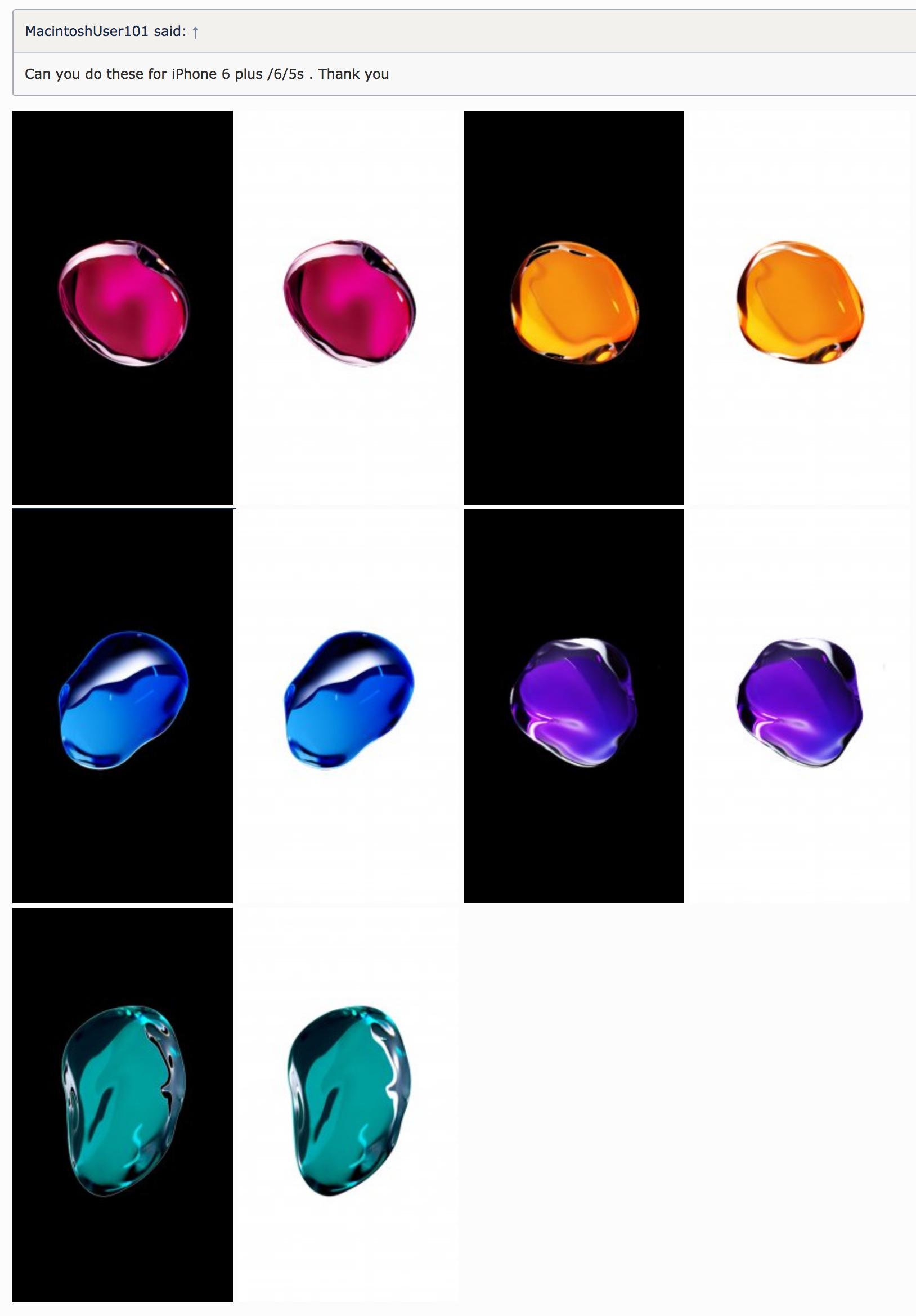 Iphone 7 Blob Live Wallpaper