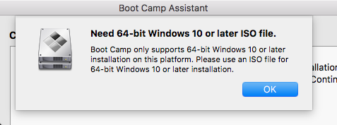 bootcamp doesnt support windows 10
