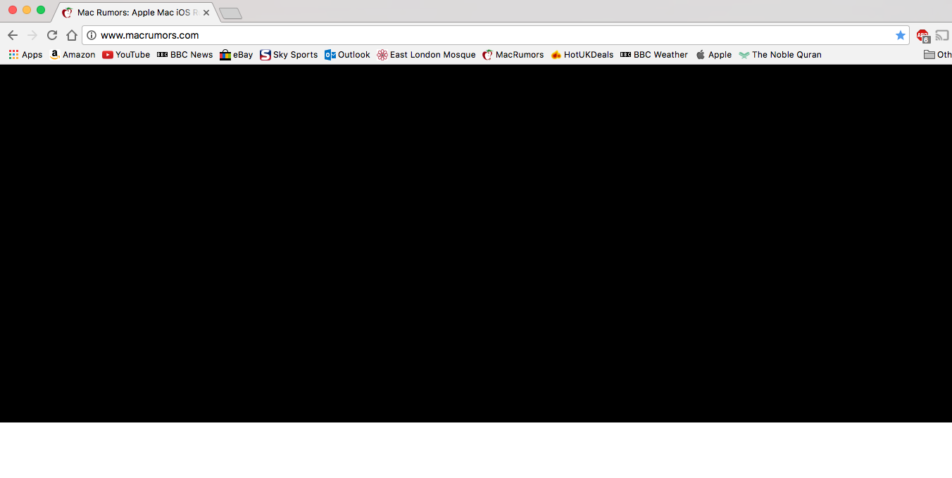 google chrome black screen mac