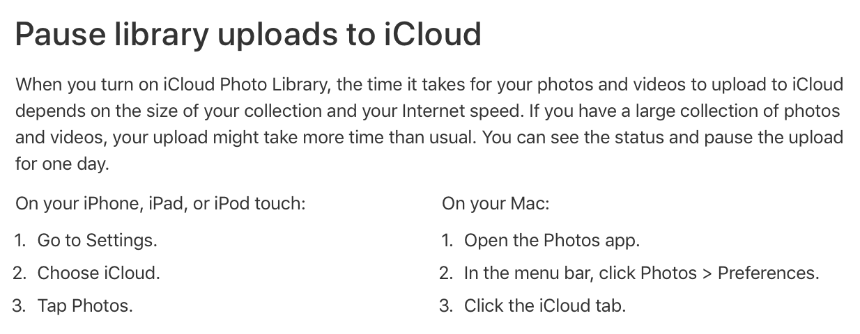 can i pause icloud photo library uploading on my iphone macrumors