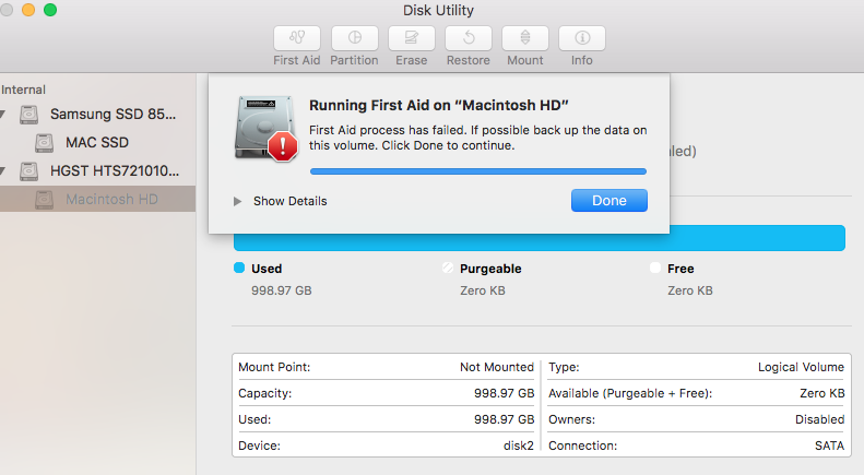 Improperly ejected my external HD now Mac doesn't see HD's