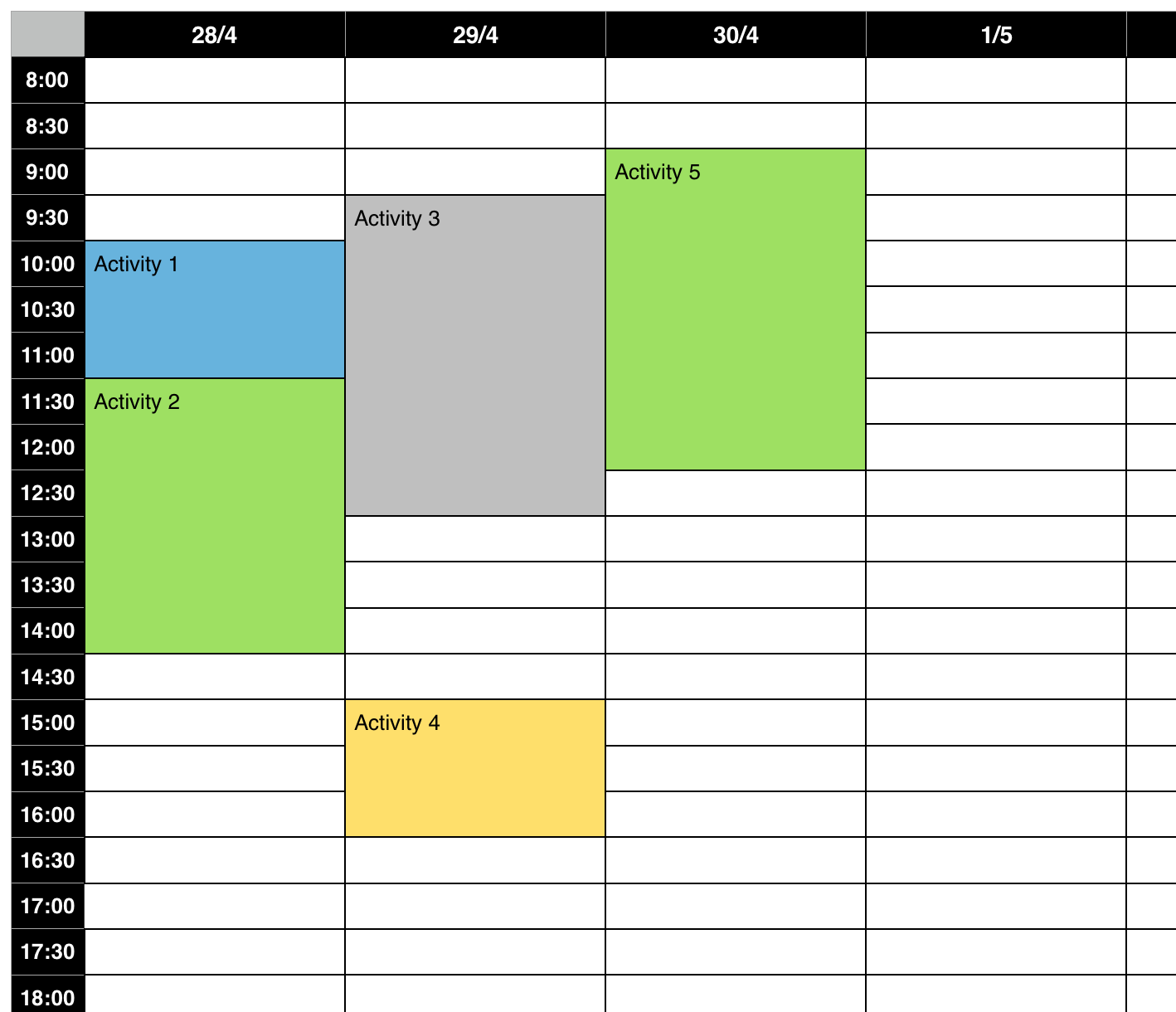 time slot activity planner macrumors forums