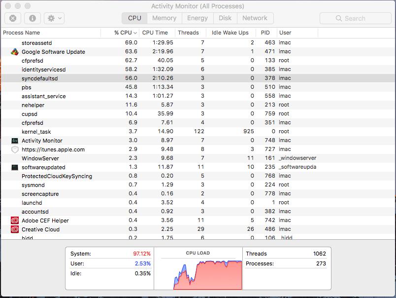 CPU load over 98% | MacRumors Forums
