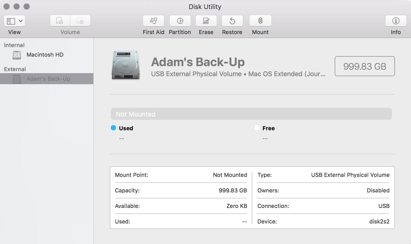 Mac can see external drive but won't open it | MacRumors Forums