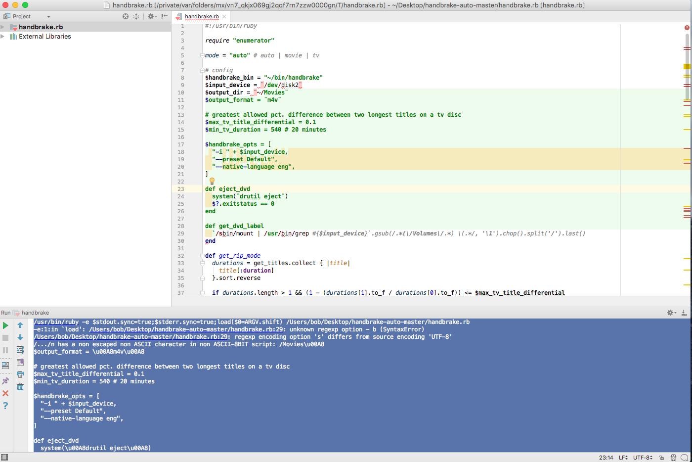 apple scripts handbrake-auto | MacRumors Forums