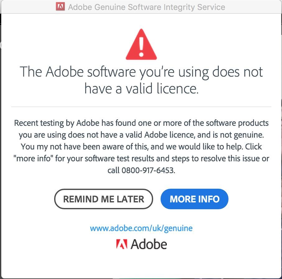 adobe genuine software integrity service windows