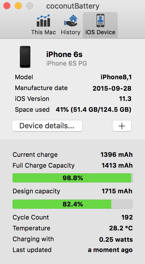 iPhone - 11 3 Battery health vs Battery Life app (and