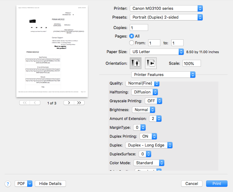 Resolved - Print Driver update broke 2 sided printing