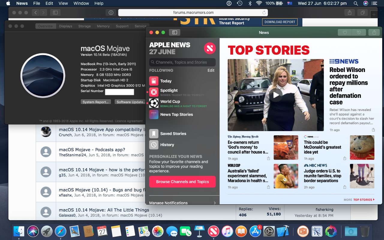 macOS 10 14 Mojave on Unsupported Macs Thread | Page 48