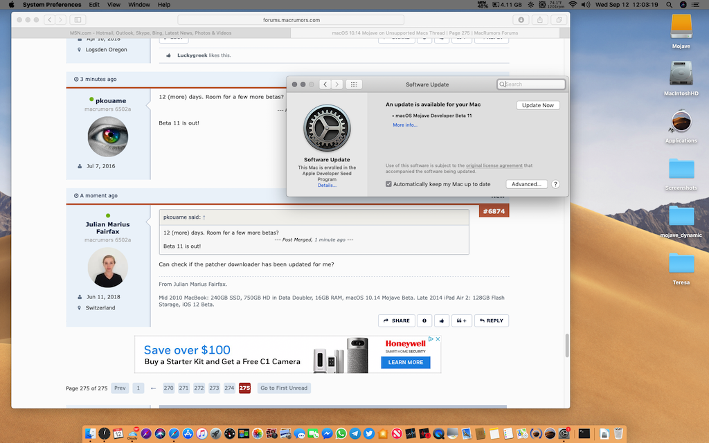 macOS 10 14 Mojave on Unsupported Macs Thread | Page 275