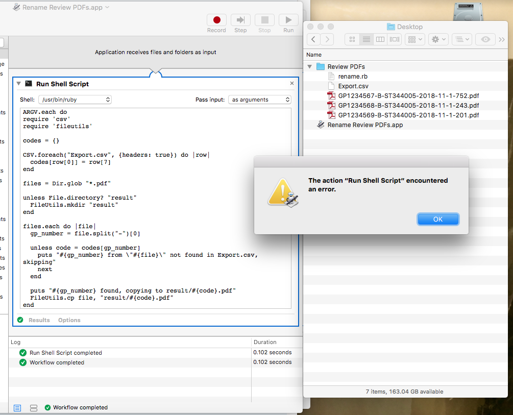 Rename  pdf files from  csv reference list | MacRumors Forums