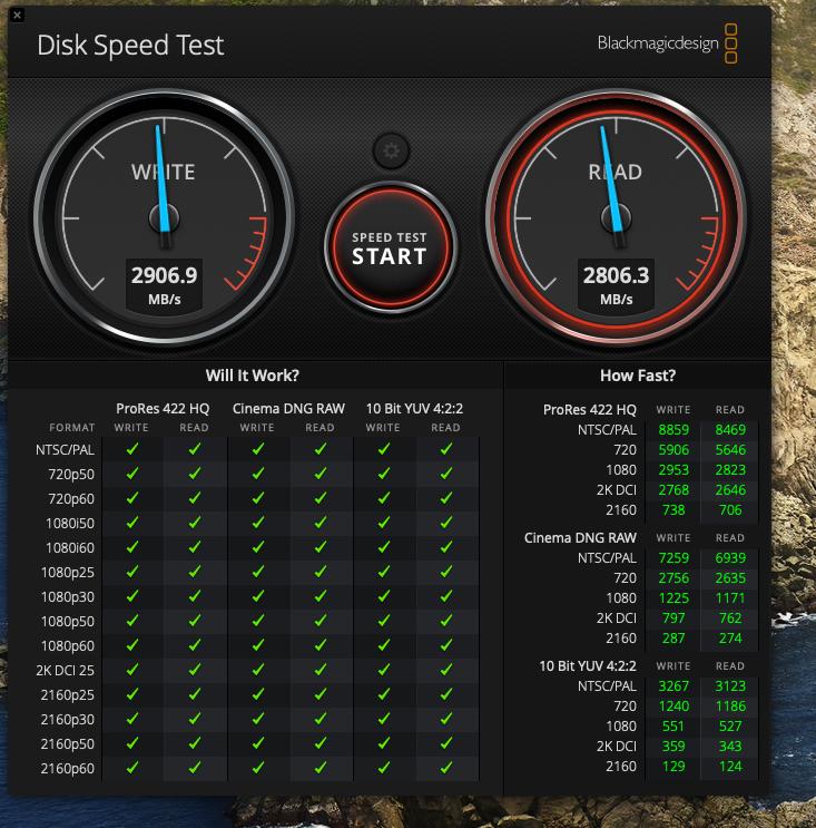 2019 8tb 16 Macbook Pro Disk Read And Write Speeds Blackmagic Test Macrumors Forums