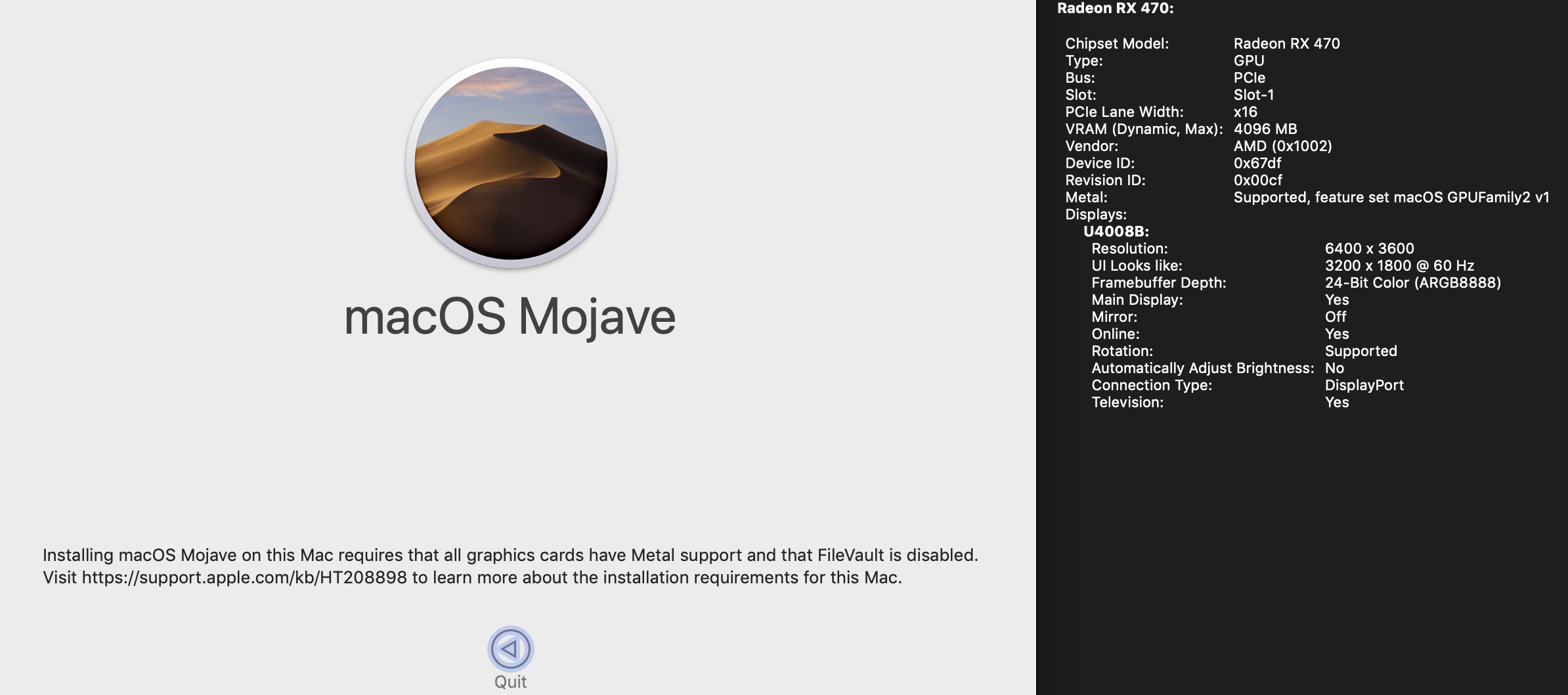 MP 1,1-5,1 - MP5,1: What you have to do to upgrade to Mojave