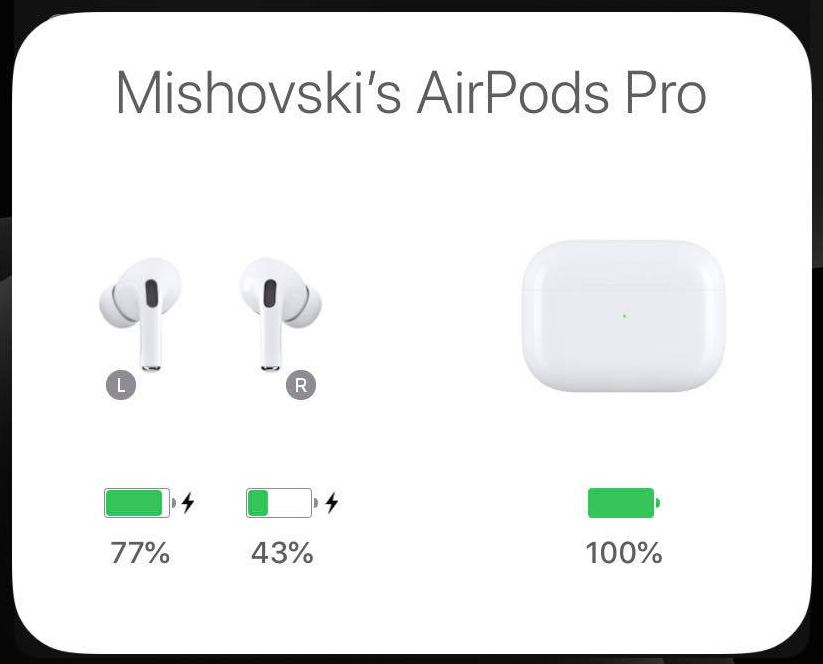Airpods Pro Different Battery Level Left Vs Right Macrumors