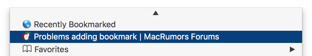 the bookmark in the Bookmarks menu.png
