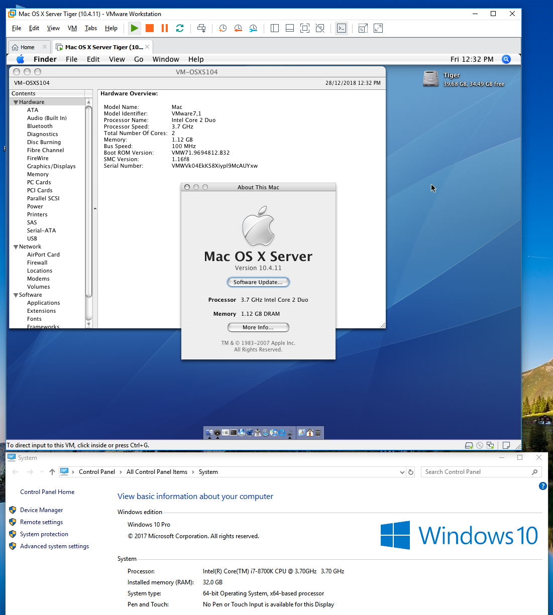 Mac OS X 10 4 Tiger on a Modern Intel Mac (Virtualization