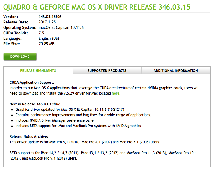 Nvidia GeForce GTX 980 on 5 1 | Page 2 | MacRumors Forums