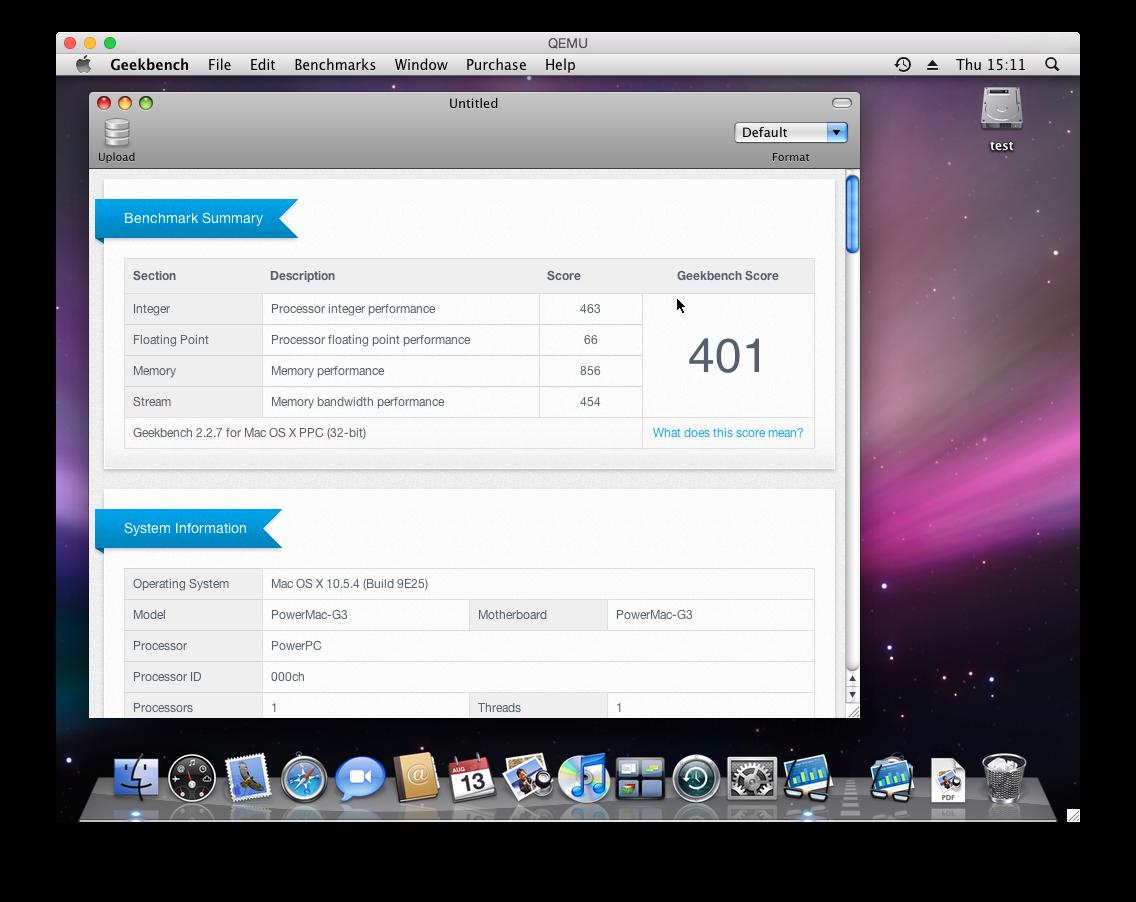 Leopard booted in a PowerPC emulator (QEMU) | MacRumors Forums