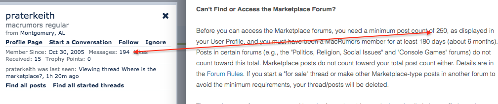 Where is the marketplace? | MacRumors Forums