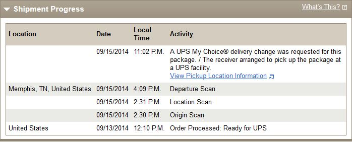 Ups My Choice Held For Pick Up On 919 Macrumors Forums