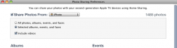 itunes 10.1 include videos from iPhoto to ATV.png
