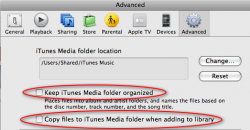 iTunes > Preferences > Advanced > organize & copy checkboxes.PNG