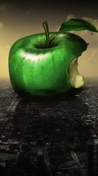 My-iPhone-5-Wallpaper-HD-Fun-green_apple_on_the_city_and_helicopters.jpeg