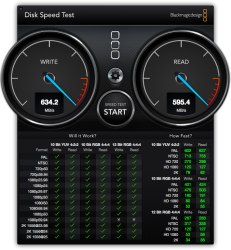 DiskSpeedTest with file vault.png