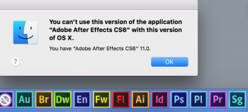 Adobe CS6 - After Effects - Not Compatible | MacRumors Forums