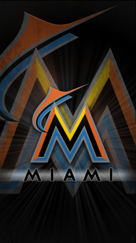 Baseball - Miami Marlins - 2 iPhone 6 / 6 Plus wallpaper