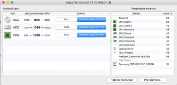 Macs Fan Control Settings for Mid 2010 27
