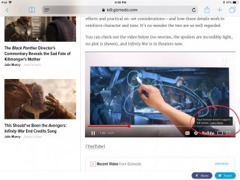Can't go full screen while watching YouTube in safari | MacRumors Forums