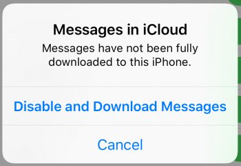 Messages in iCloud not syncing | MacRumors Forums