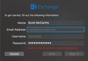 Exchange Account Keeps Deleting | MacRumors Forums